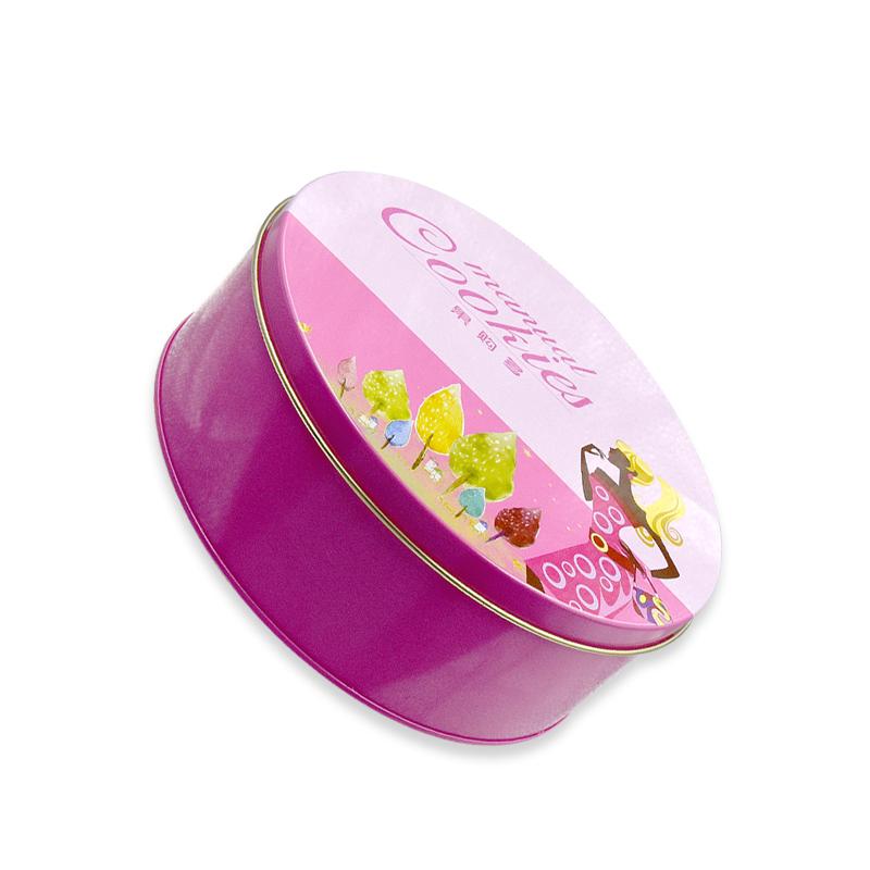 上海制罐厂定制 圆形天地盖巧克力铁盒 糖果马口铁盒 年货节日礼盒铁盒
