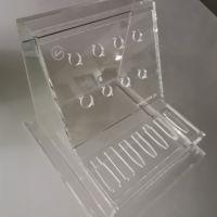 宁波安君有机玻璃亚克力制品厂定制加工雕刻激光打标 展会样品展示架