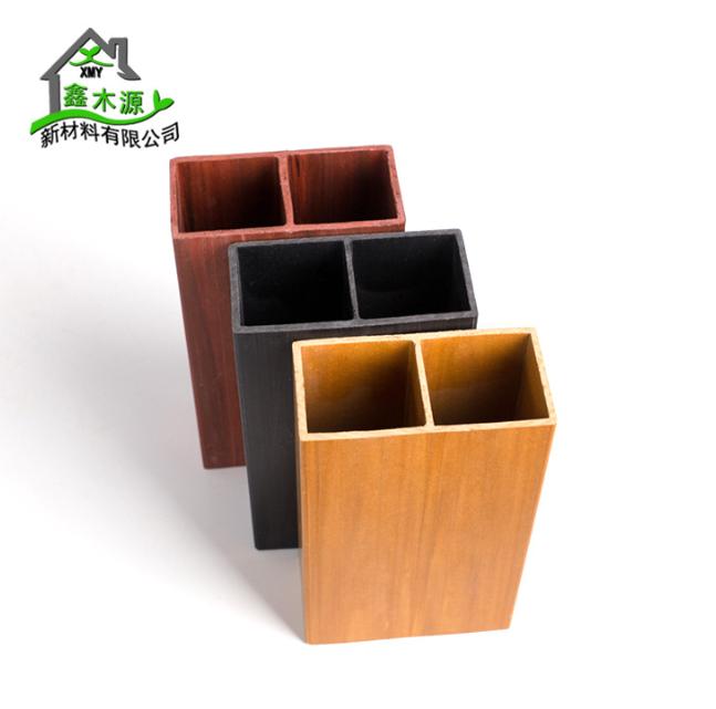厂家直销生态木方通 室内装修新型装饰材料PVC木塑100*50单筋方木
