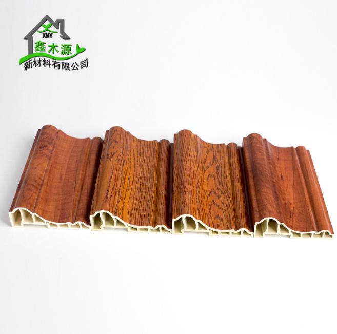 厂家直销生态木PVC框线 新型装饰材料室内装饰线条100框线