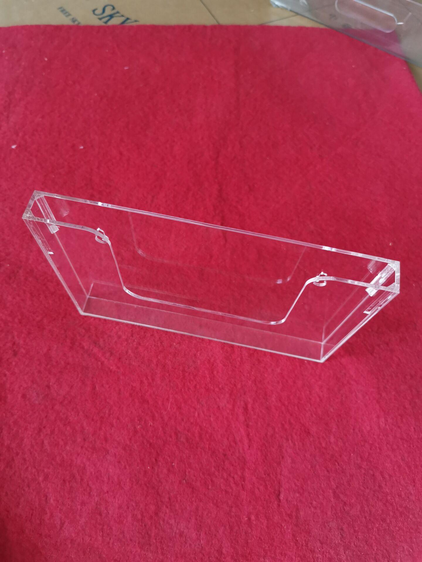 宁波安君有机玻璃亚克力制品厂定制加工葫芦孔挂墙资料盒