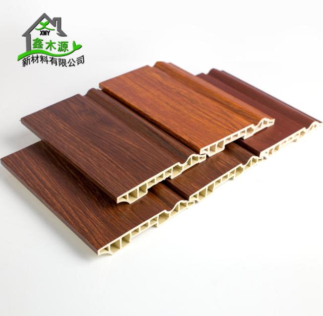 厂家直销生态木PVC踢脚线 新型装饰材料室内装饰线条120踢脚线