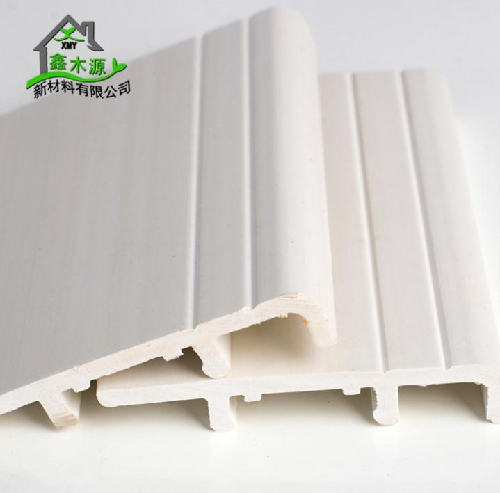 厂家直销生态木踢脚线 新型装饰材料室内装饰线条8公分PVC踢脚线