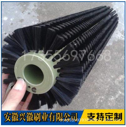 芜湖市玻璃清洗机毛刷辊生产厂家-植毛尼龙除尘毛刷辊批发