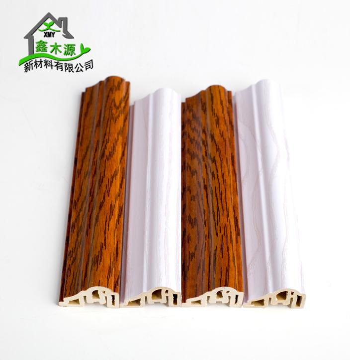 厂家直销生态木PVC框线 新型装饰材料室内装饰线条35框线