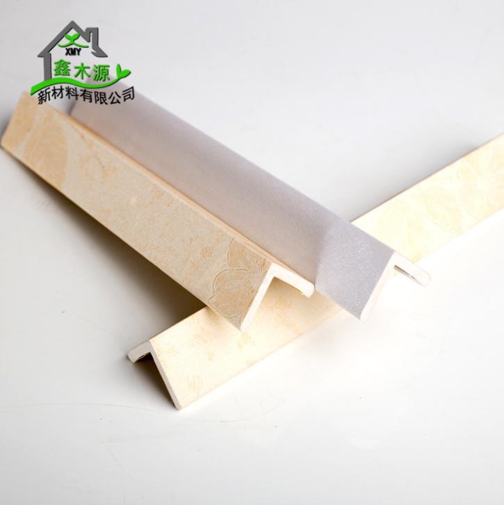 厂家直销生态木包覆阳角线 新型装饰材料室内装饰线条25*25阳角线