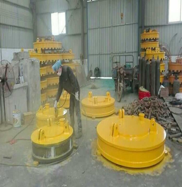 强力吸磁电磁吸盘 起重机挖掘机叉车专用圆形电磁高频吸盘