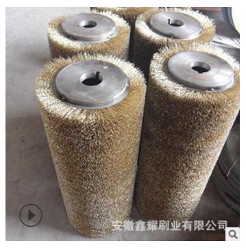 厂家直销除锈钢丝刷,安庆市定制钢丝刷辊,订做不锈钢丝刷