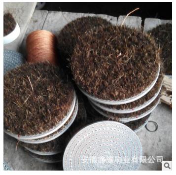 可定制毛刷盘 耐磨丝圆毛刷盘价格 尼龙盘刷供应商