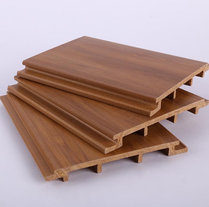 厂家直销 150单面生态木外墙板防水平面护墙板室外装饰材料