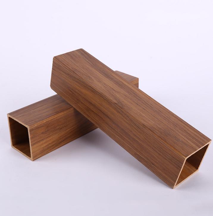 厂家直销生态木吊顶方通50*50木纹吊顶立柱隔断覆膜新型装饰材料