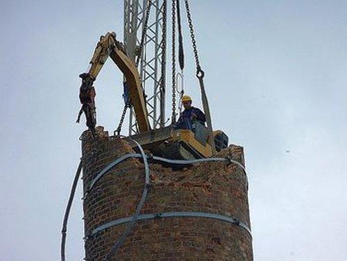 深圳市烟囱拆除工程施工-高空拆除工程-厂家-工程队