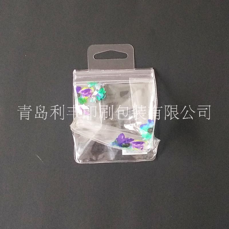 化妆品pvc袋/pvc透明拉链袋/内衣内裤袜子游泳帽塑料包装挂钩文具袋