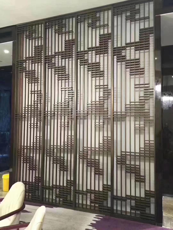 冠悦专属定制高端不锈钢隔断屏风