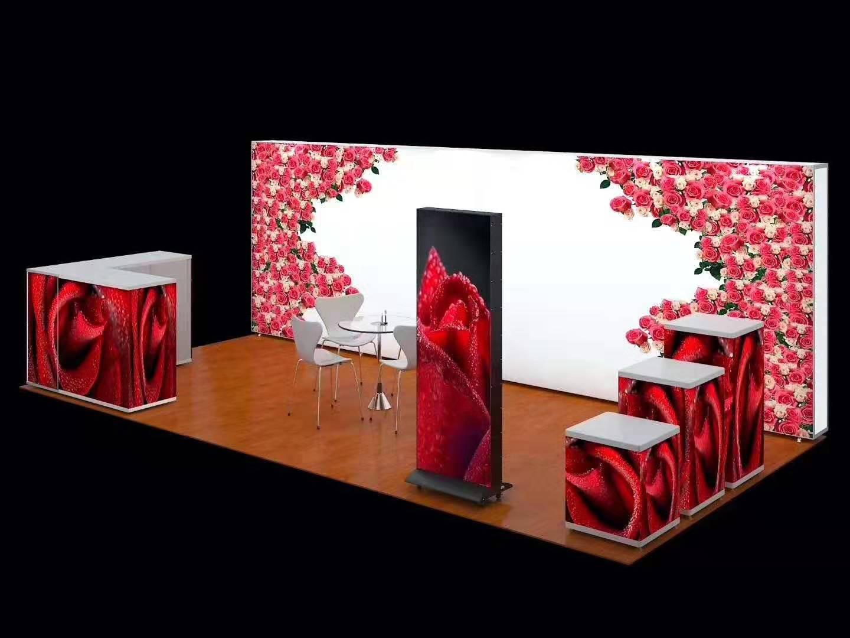 上海供应高端移动亮灯花墙 卡布背景架 立体画面写真 花架子制作