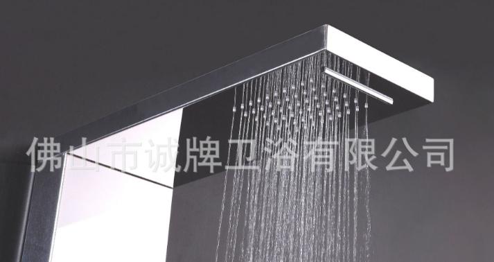 SUS304不锈钢淋浴柱温度显示厂家直销家庭酒店淋浴外贸款