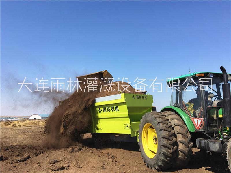 12立方有机肥施肥器多功能撒粪车 厂家直销撒粪施肥车