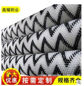 黑间白色抛光刷辊厂家 工业硬毛刷价格 优质除尘清洗毛刷辊价格
