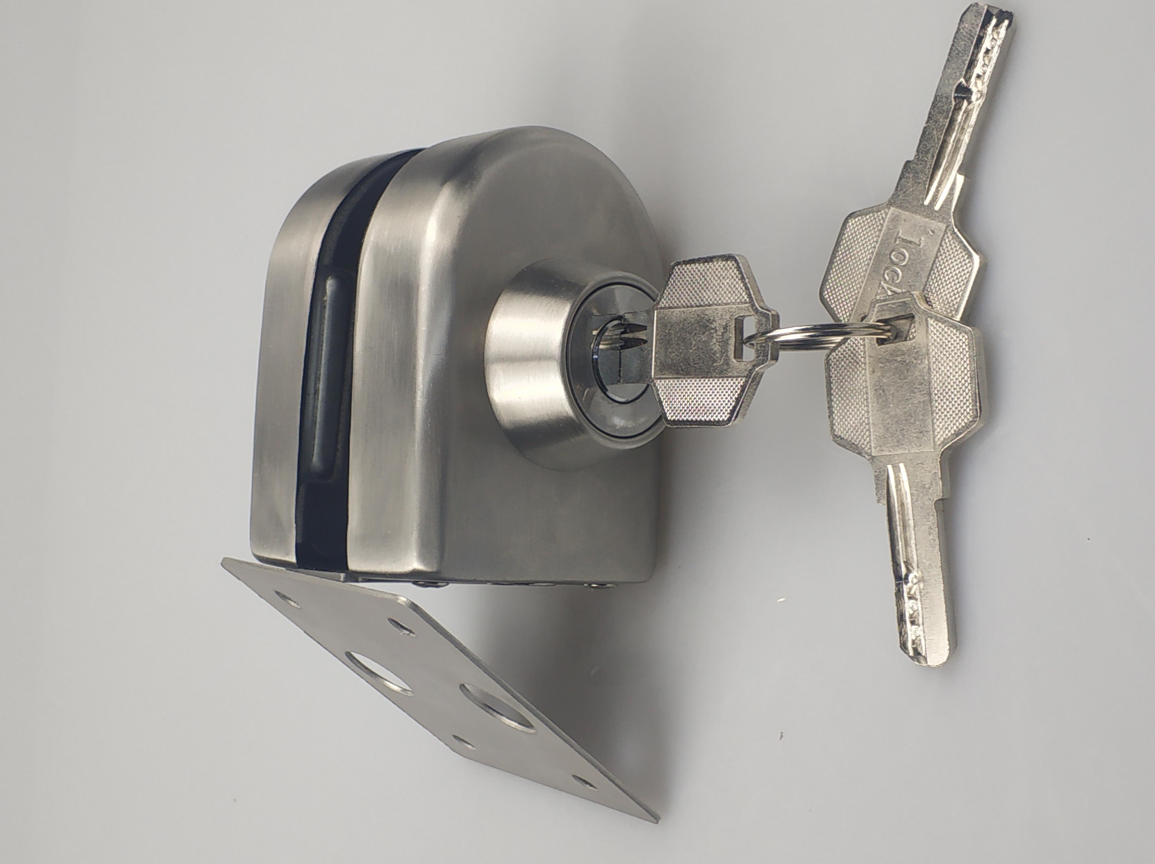 插销单开单拧 中央锁Z-702 玻璃门办公室门锁-厂家 供应商