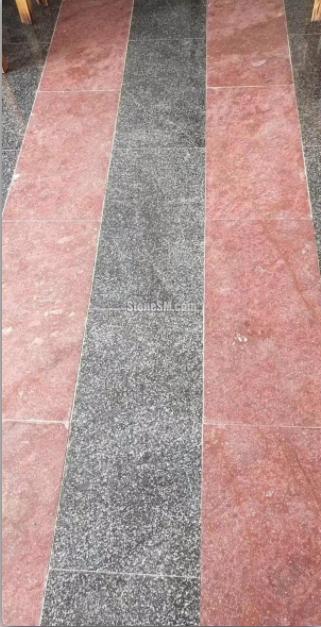 浙江木纹红地铺石