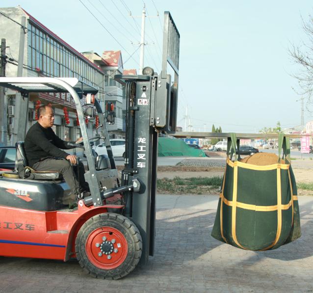 批发吨包厂家帆布吨袋集装袋大吊物袋太空袋1吨1.5吨绿色白色吨包