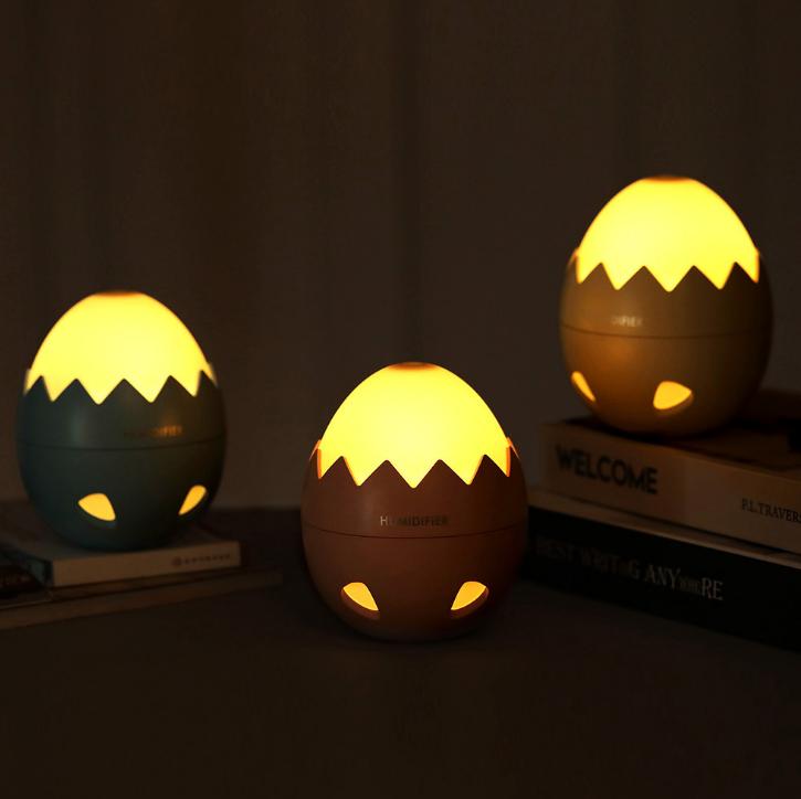 USB蛋壳加湿器迷你小夜灯 办公桌面加湿器 香薰雾化器 创意小