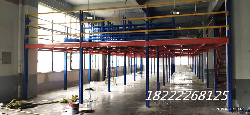 天津博胜货架厂悬臂式货架阁楼平台货架专业安装定做
