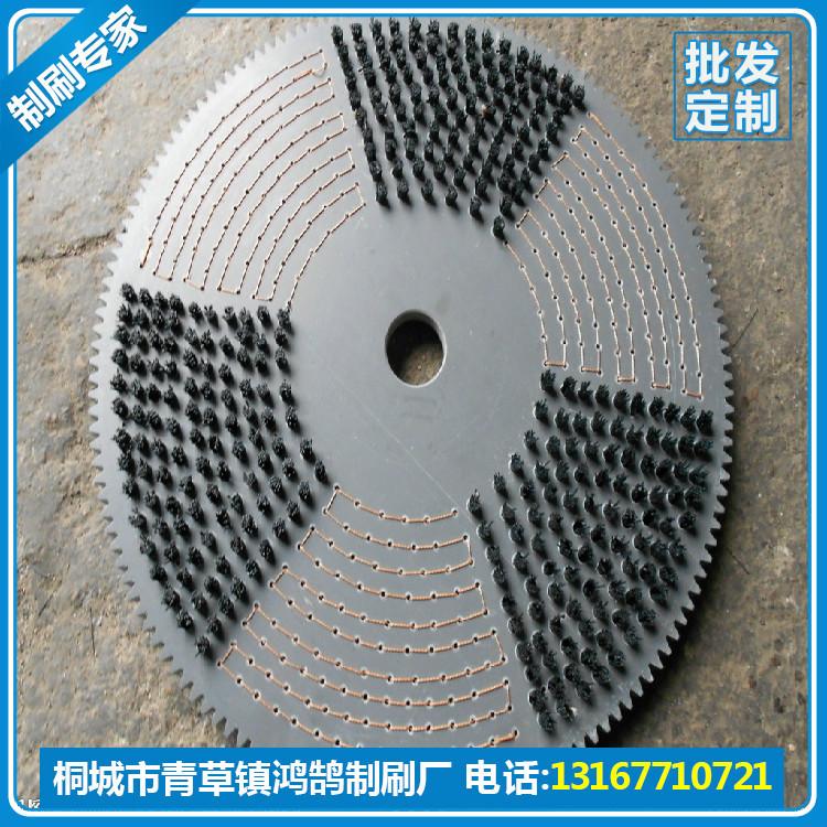 厂家订做尼龙丝圆盘毛刷,安庆市磨料丝圆盘刷定制厂家,毛刷批发