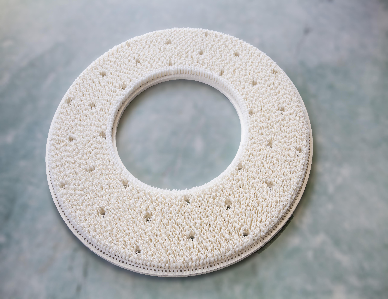 抛光皮革,玻璃抛光剂,工业圆柱玻璃刷辊 混合盘刷