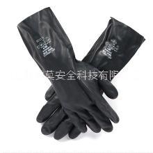 耐酸碱溶剂防化手套耐油工业劳保手套氯丁橡胶防护手套图片