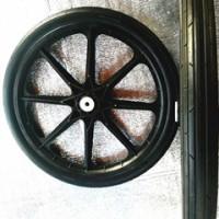 厂家直销20寸实心覆膜机轮子 播种机轮子 手推车轮子