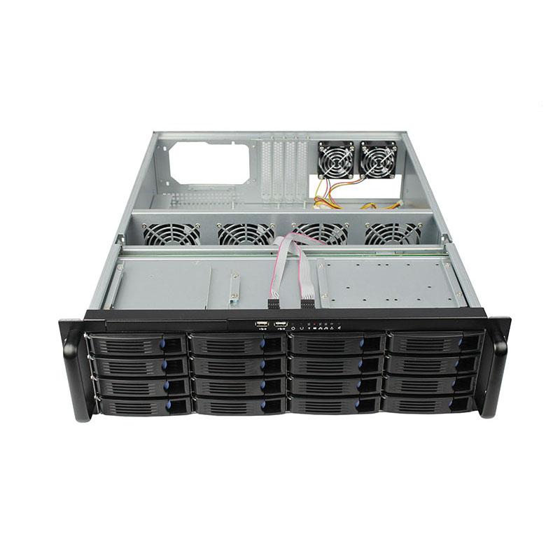迈肯思服务器机箱R355-16 3U机箱热插拔工控机箱16硬盘位 工控机箱厂家
