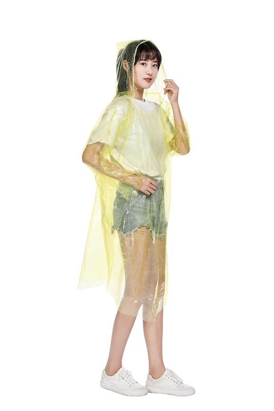 1538帽带雨衣 PE一次性雨衣 户外雨衣