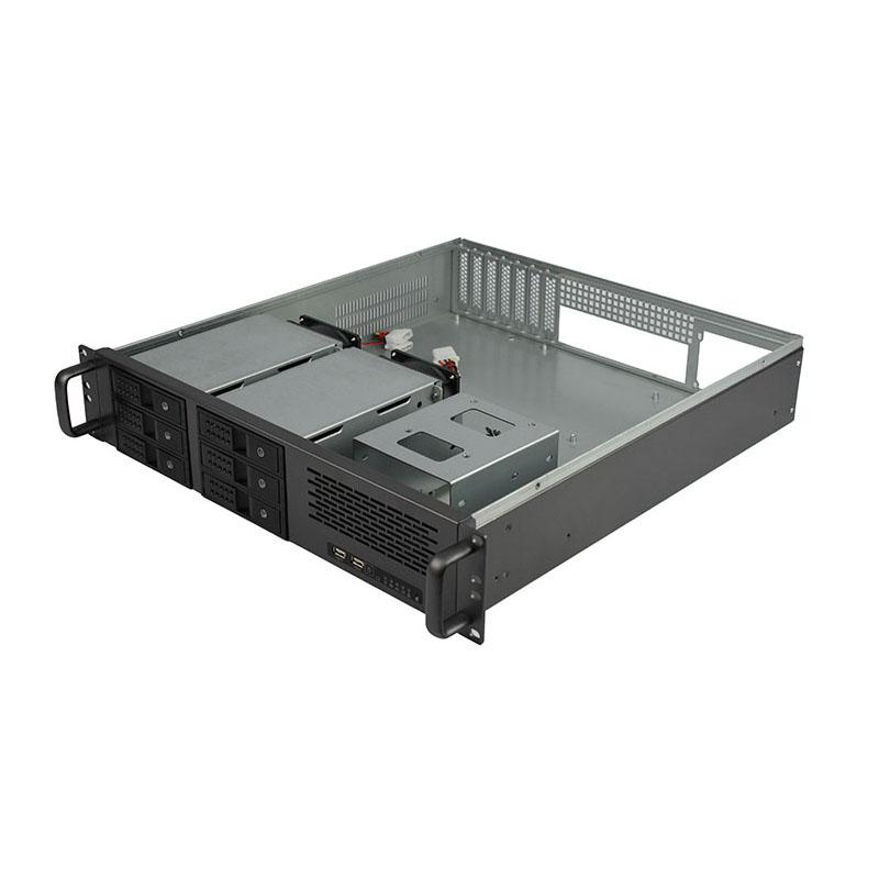 迈肯思2U服务器机箱R248-6 2U机箱热插拔6盘位2u服务器机箱6盘位热插拔机箱ATX主板冗余电源6