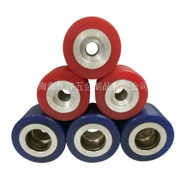 厂家直销聚氨脂铝芯包胶轮 定向万向轮加工 滚轮包胶轮非标定制 聚氨脂铝芯包胶轮 定向万向轮加工