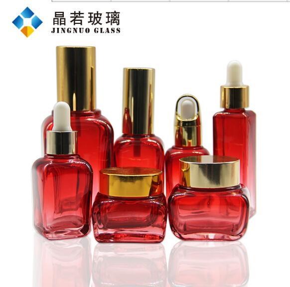现货供应 四方玻璃瓶 化妆品瓶雅诗兰黛精华液瓶 100ml喷雾乳液瓶