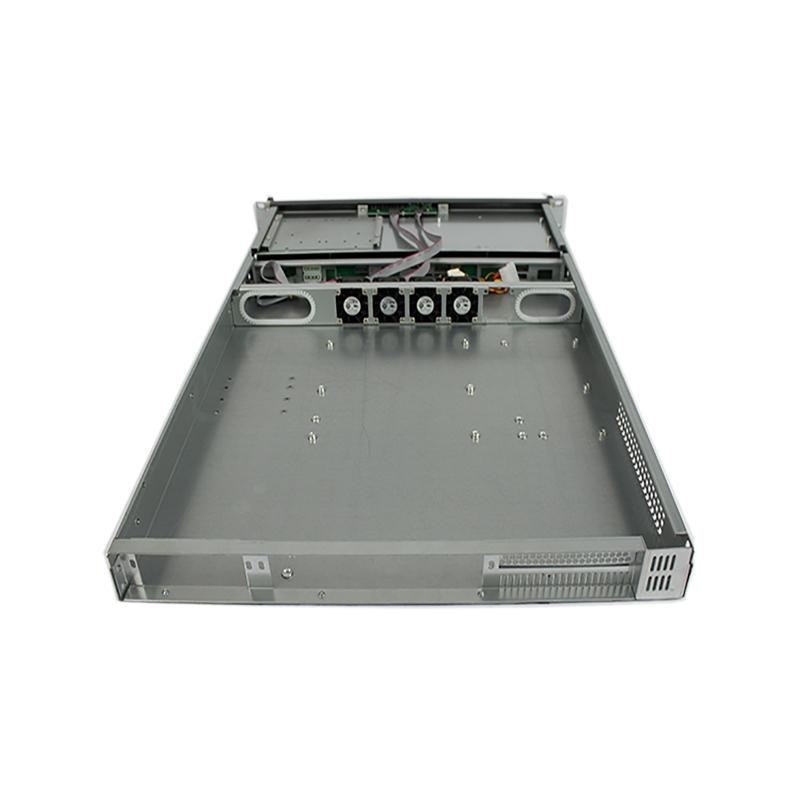 R166-4迈肯思1u服务器机箱4盘位热插拔机箱EATX双至强主板带散热风扇加长