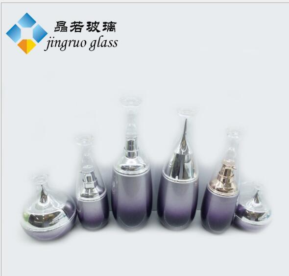 现货:套装玻璃瓶40毫升 化妆品瓶120毫升 100ml乳液瓶子