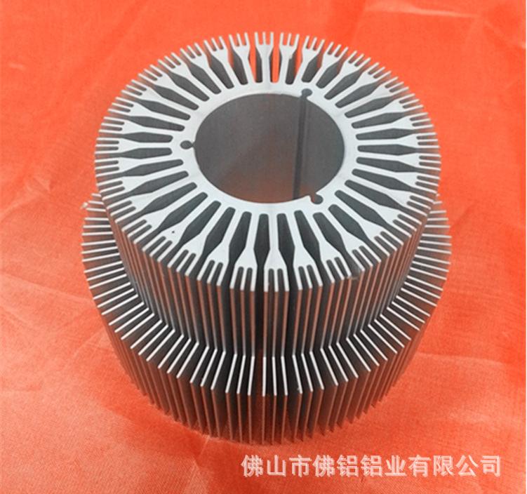 定制LED散热器铝型材工矿灯 铝合金机箱铝壳深加工电话 太阳花散热器厂家直销
