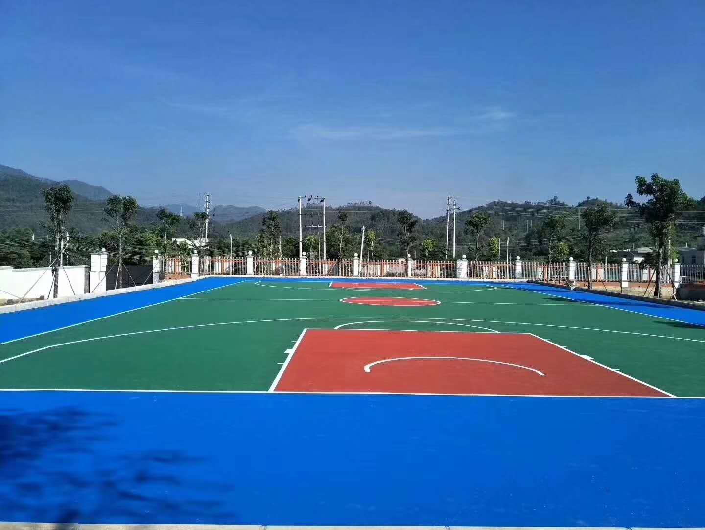 兴宁丙烯酸篮球场施工 丰顺硅PU篮球场 梅州各种球场划线