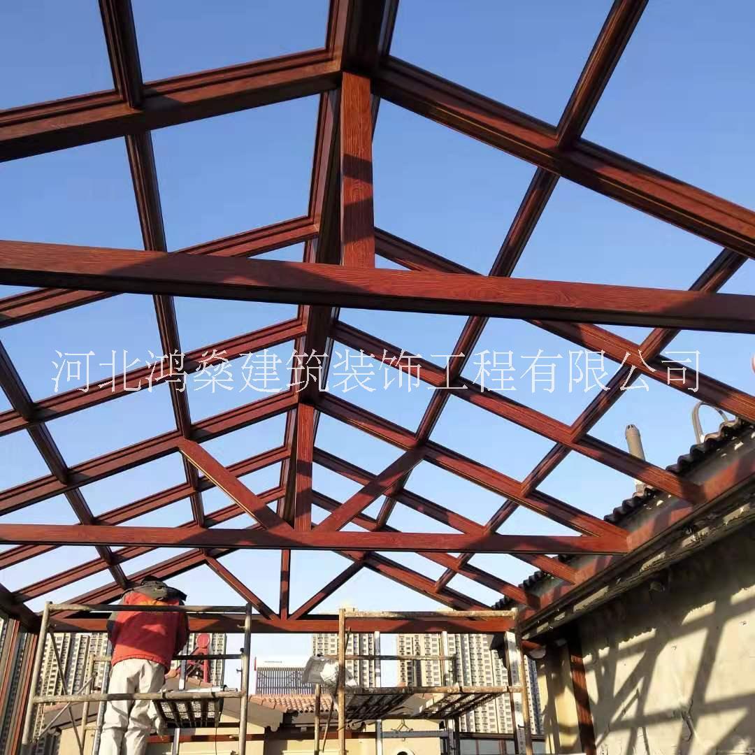 专业钢结构雨棚搭建定制施工  承包雨棚阳光房搭建  钢结构施工电话18031862465