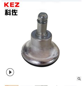 科佐固定轮直销厂家 椅子脚轮价格 现货供应PU电镀固定脚轮