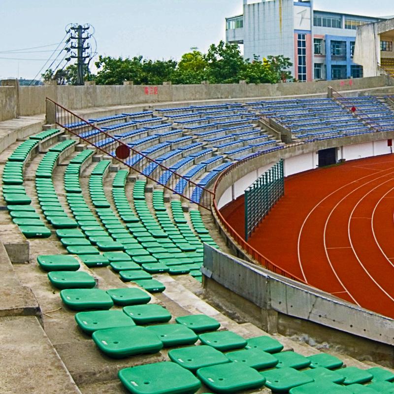 四川中空吹塑椅子生产厂家直销体育场馆看台座椅亿洲yz-2400排椅