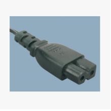 温州市美式两插电源线带厂 D字尾插头线价格 现货供应两电源线