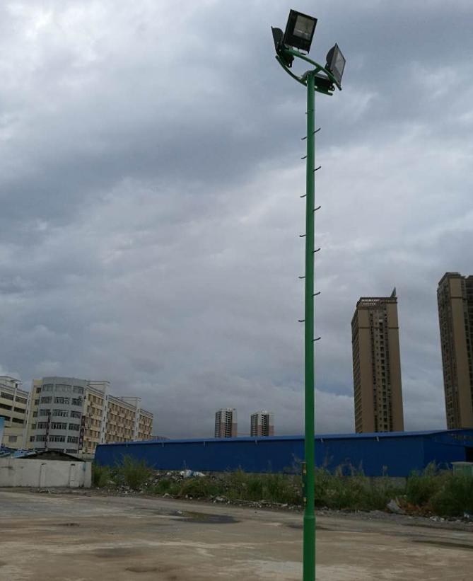 南宁市最照明球场灯杆价格厂家,户外球场灯杆,爬梯球场灯杆