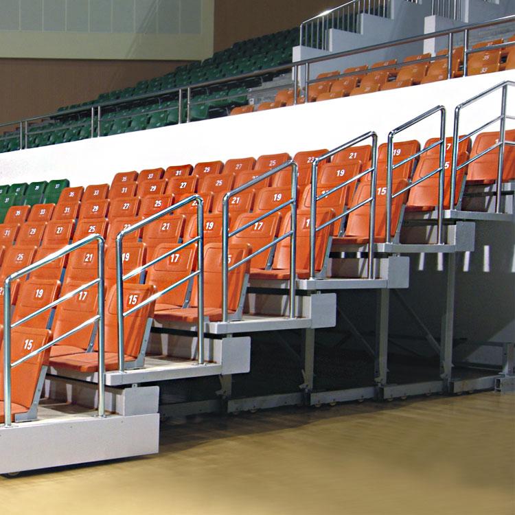 四川体育场馆电动伸缩看台座椅厂家定制活动看台可移动