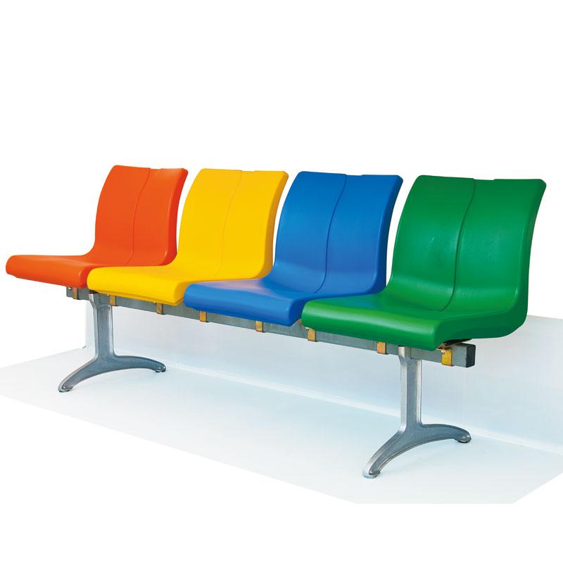 四川体育馆看台户外座椅中空吹塑塑料椅子厂家直销公交车坐凳