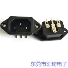 郑州销售插PCB板品字型C14插座丨品字公座价格优惠丨ST-A01系列AC插座图片
