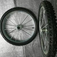 萱德20*1.75钢圈轮子 手推车轮 覆膜机轮子 20寸实心钢圈轮子