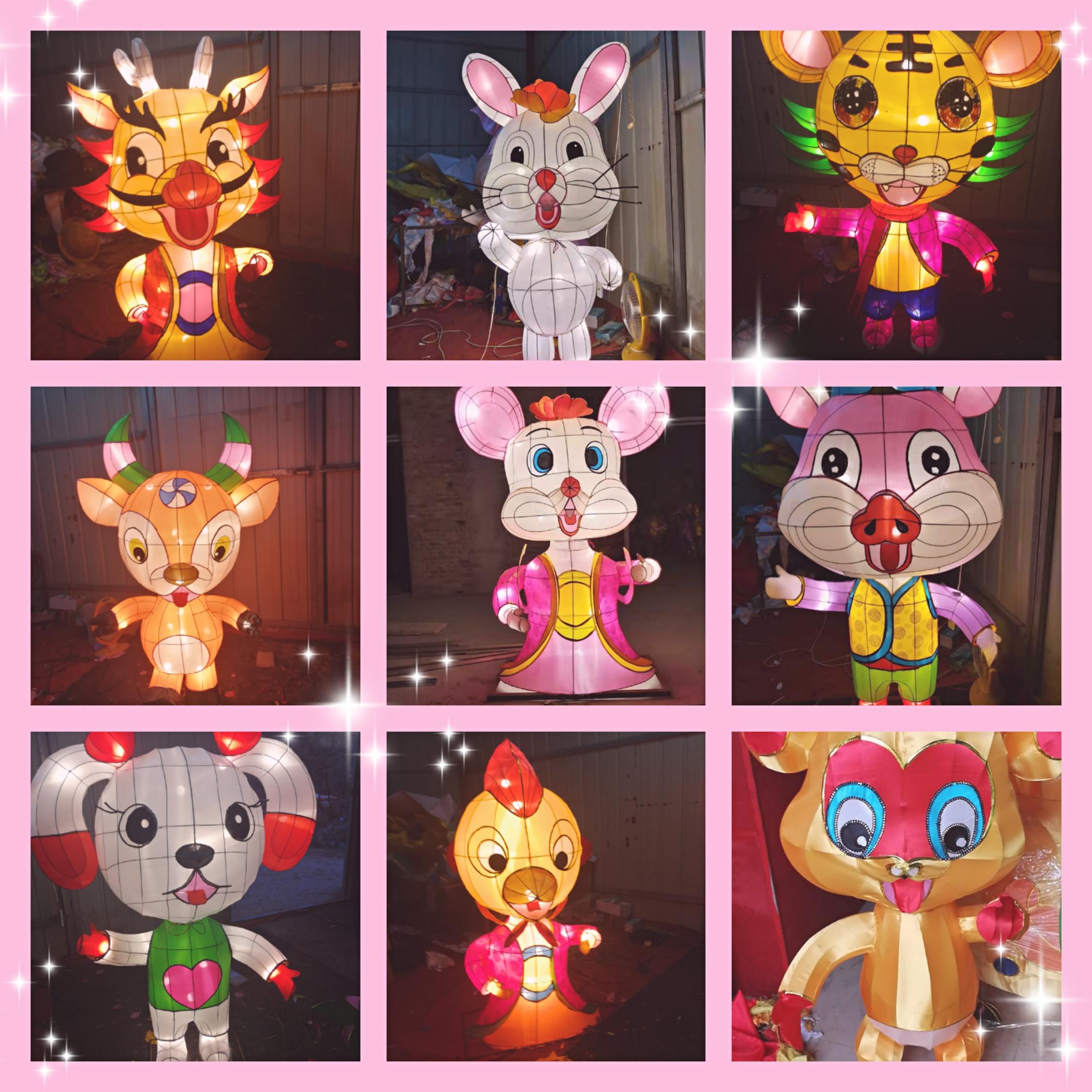新年彩灯12生肖定制厂家 12生肖彩灯批发 新年彩灯老鼠价格
